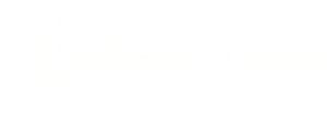 A white version of the Institute of Museum and Library Services logo