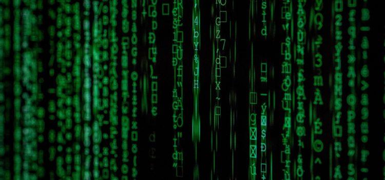 A screen of green text, Matrix-syle